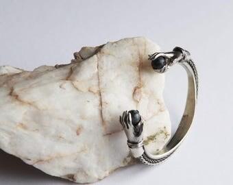 Fortune teller hand bracelet labradorite amethyst Cuff