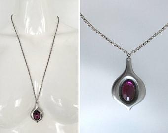 Vtg JÖRGEN JENSEN Necklace w/ Glass Space Age Modernist Abstract 1960s 1970s -  Near MINT !