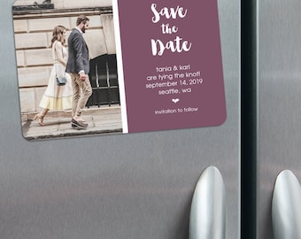 Summer Love - Save the Date Magnets with Photo + Envelopes