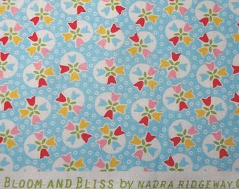 New Cotton Quilting Fabric, Bloom and Bliss in Blue, Riley Blake Designs, by Nadra Ridgeway, BY the YARD, 100% Cotton, Home Sewing Fabric,