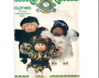 Butterick 6984 Pattern for Cabbage Patch Kids Coats, Hat & Iron On Transfers, From 1984, Cute Clothes, Vintage Pattern, Home Sewing Pattern