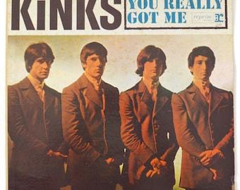 Vintage 60s The Kinks You Really Got Me Mono Album Record Vinyl LP
