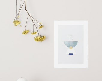 POSTER small Figure #2 - Half moon and gold