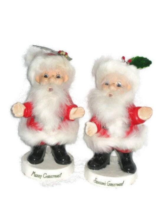 Vintage christmas large santa claus porcelain figurine ucagoc