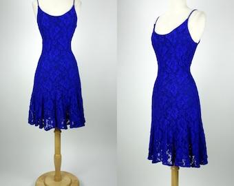 Cobalt blue dress - Etsy