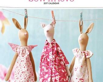 Tilda Calendar 2017/Sewn in Love 2017 Calendar/Tilda Calendar/online quilting fabric Australia
