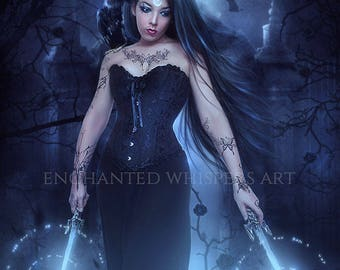Gothic Witch fantasy art print