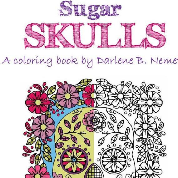 sugar skull coloring book 25 sugar skull coloring pages sugar skulls wall art - Sugar Skull Coloring Book