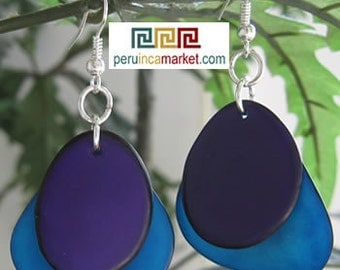 1 pair TAGUA EARRINGS eco jewelry from Peru