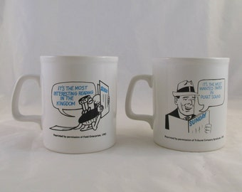 Sunday Seattle Times Mug Set of 2 The Most Wanted Paper Puget Sound 1983