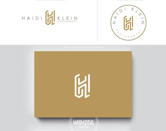 minimal monogram 2 logo photographer initials  businesscards  simple modern gender nutral branding kit Identity minimal wedding photographer