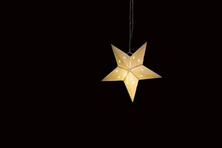 Paper Star Lantern With Light Hanging Lanterns Star