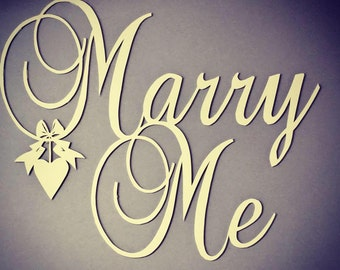 Print of Marry Me design