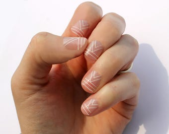 White Cali Transparent Nail Wraps