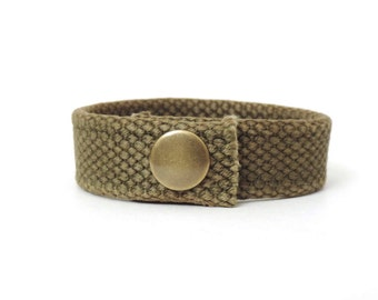 Recycled Military Webbing Bracelet Small