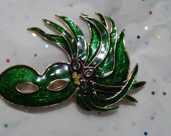 Large Venetian Carnivale Mask Pin