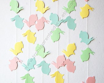 Easter bunny garland, Easter decorations, Spring garland, Bunny garland, Easter bunny banner, Easter banner, Easter Decor, KAB-4007