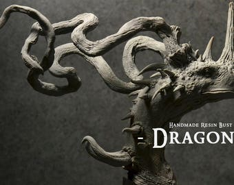 Dragon bust - Handmade Resin Bust - Size : 9 in