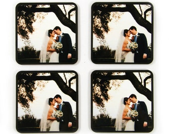Gifts for Husband Custom Printed Coasters With Your Own Photo Wedding Photo Anniversary Gift for Wife Birthday Gifts for Spouse