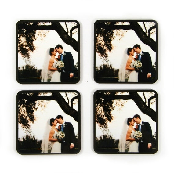 Stocking Stuffer for Husband Custom Printed Coasters With Your Own Photo Wedding Photo Anniversary Gift for Wife Christmas Gifts for Spouse