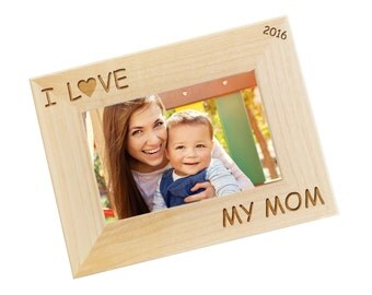 SHIPS FAST, Personalized Mothers Day Frame, Mothers Day Gift, Gift for Mom, First Mothers Day Frame, Mom Gift, Engraved Picture Frame, WF10