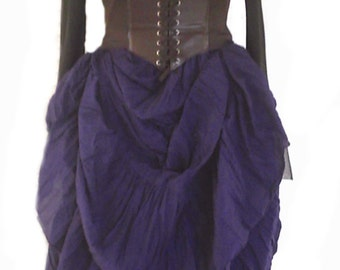 RENAISSANCE STEAMPUNK Skirt 100% Cotton Hand Dyed Pirate VICTORIAN Costume Medieval Color Choice