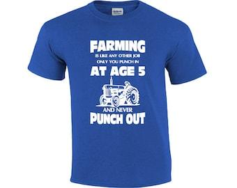 Farming Punch In | Farmer T-shirt | Farming T-shirt | T-shirt For Farmers | Men's T-shirt | Tractor T-shirt | Framing Shirt