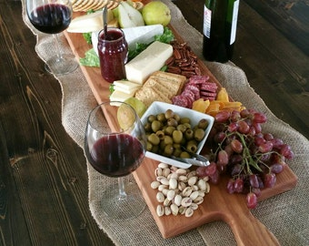 42 Inch- Extra Large Serving Platter- Cheese Board- in Oak- by Red Maple Run
