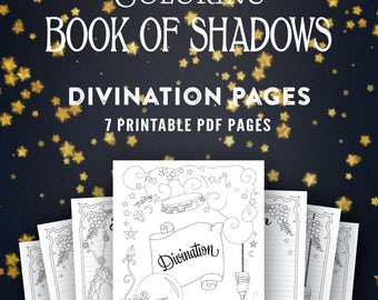 Divination: Printable Book of Shadows Pages