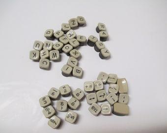 vintage typewriter keys only remington monarch letters numbers u0026 characters beige brown hard