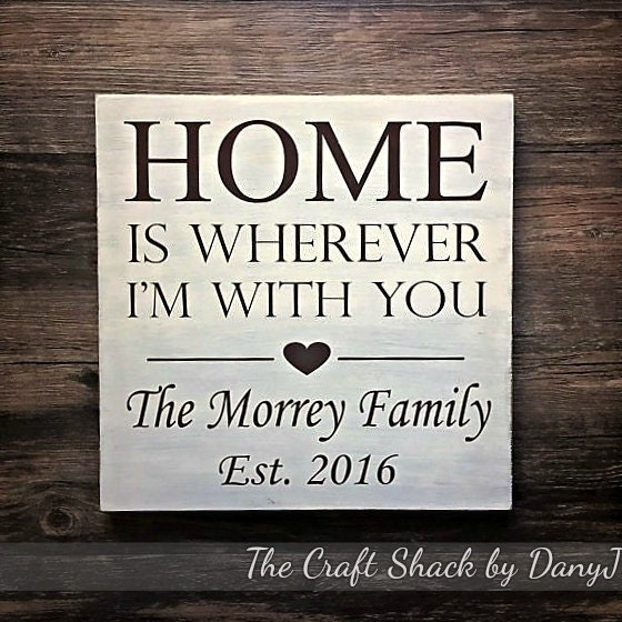 Home Is Wherever I M With You Wood Sign Home Decor: Home Is Wherever I'm With You Wood Sign By