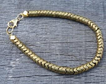 Brass Snake Charmers Bracelet
