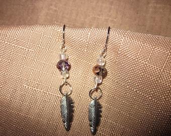 Shimmery Feathers Earrings