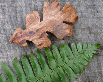 Wood accessory, Oak Leaf wood jewelry, Oak Leaf hair clip, Leaf hair comb, Nature Lover Gift, 80mm French barrette Clasp, Gift for her