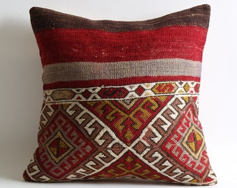 kilim pillow, kilim, vintage pillow, home decor, red pillow, throw pillow, decorative pillow, pillow cover, red kilim pillow, kilim pillows