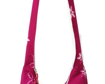 pink tie dye hobo bag - hippie hobo bag - boho bag - crossbody bag - crossbody purse - hobo bag with zipper - hippie purse - festival purse