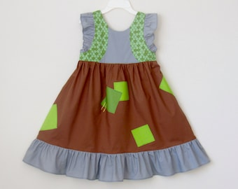 Trolls Branch Inspired Dress.  Troll Dress for Girl Sizes 1-8