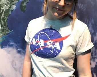 NASA Meatball Short Sleeve Tshirt in Ash