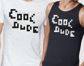 Cool dude T-shirt and tank top