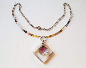 Modernist kinetic necklace / collier, 1970s (F670)