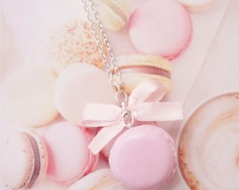 necklace pink macaron