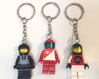 Vintage Lego Minifigure Futuron M-Tron Blacktron Spaceman Keychain
