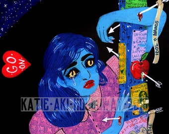 If It Wasn't for Outrageous Fortune, I Wouldn't Have No Fortune at All - Original Mixed Media on Panel