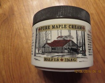 Maple Cream, 1/2# , Cream, pure maple, maple candy, maple gift, maple syrup product, sugar candy, maple syrup cream, maple leaves, maple
