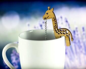 Tea Buddy™ giraffe tea infuser, loose leaf tea steeper, animal lover gift for her, tea diffuser, tea ball, loose tea infuser, tea strainer