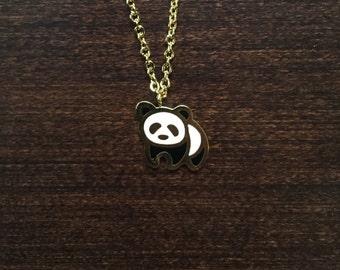 panda necklace, panda jewelry, panda pendant, panda, animal necklace, animal jewelry, animal pendant, jewellery, jewlery