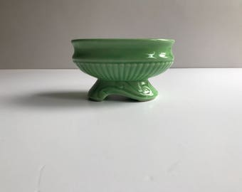 Green Ceramic Footed Planter