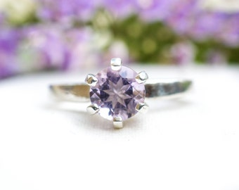 Natural Pink Amethyst Ring with 925 Sterling Silver *Free Worldwide Shipping*