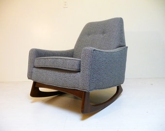 Mid Century Kroehler Rocker Vintage Rocking Chair