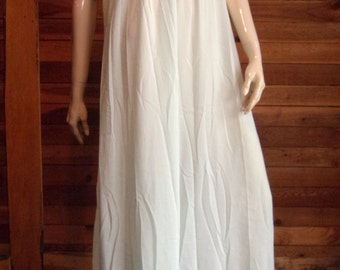 Vintage Lingerie 1960 NAJLA New York  Blue Size Small Nightgown with Lace